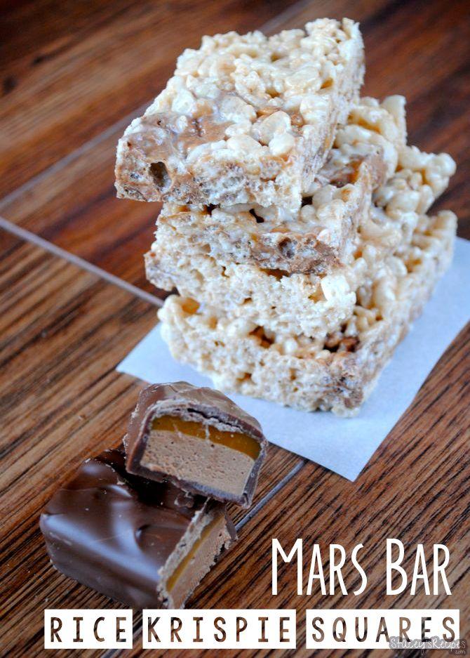 Mars Bar Rice Krispie Squares