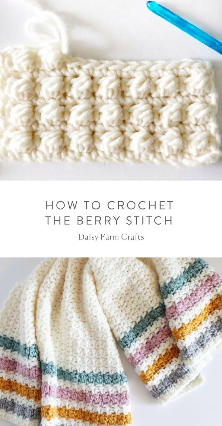 Padrão Livre - Como Crochetar o Ponto Berry