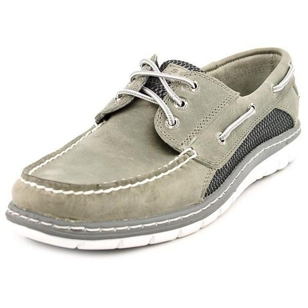 Sperry Top-Sider Sperry Top Sider Billfish Ultralite 3-Eye Moc Toe... (3.325 RUB) ❤ liked on Polyvore featuring men's fashion, men's shoes, men's loafers, grey, shoes, mens grey shoes, mens gray dress shoes, sperry top sider mens shoes, mens flat shoes and sperry mens shoes