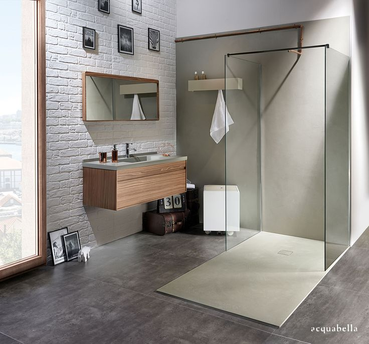 @Acquabellabath #baño #bath #textura Beton en el #platodeducha #ducha #vanguardia #diseño