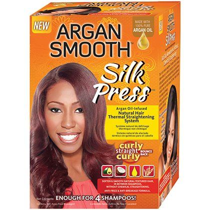 Argan Smooth Silk Press Natural Hair Thermal Straightening System - CurlMart....I don't know about this for us true naturals ?????