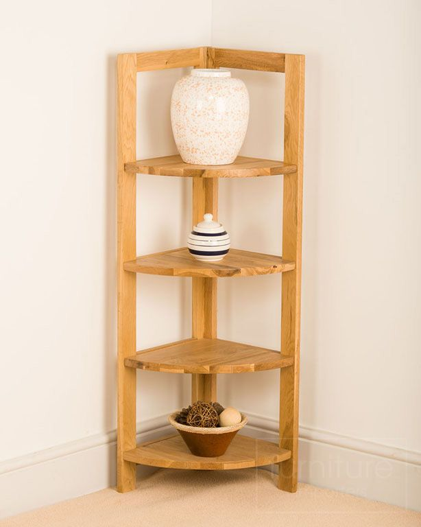 Corner Shelf Unit Oak - WoodWorking Projects & Plans