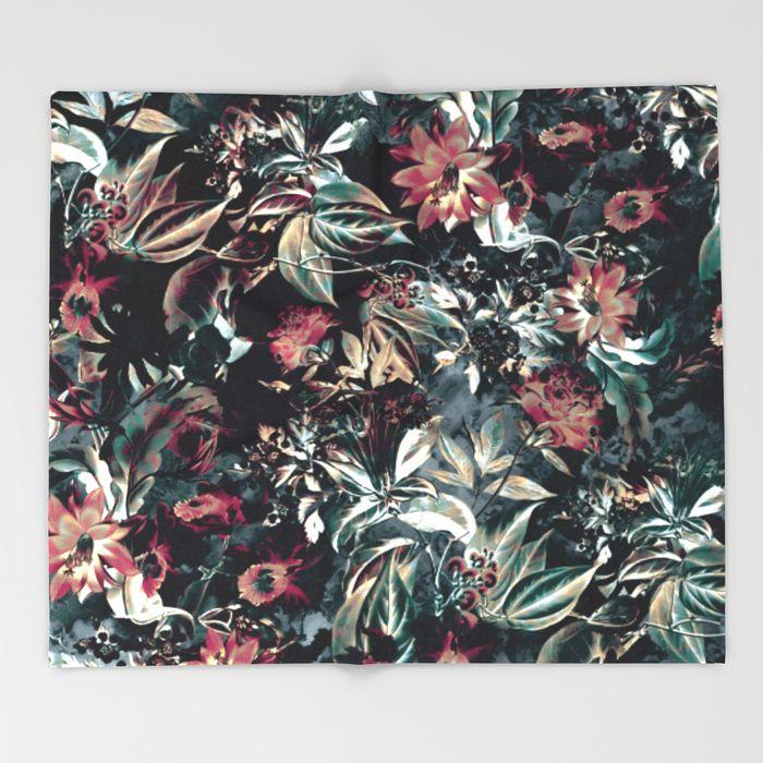Space Garden Throw Blanket #home #decor #art #society6