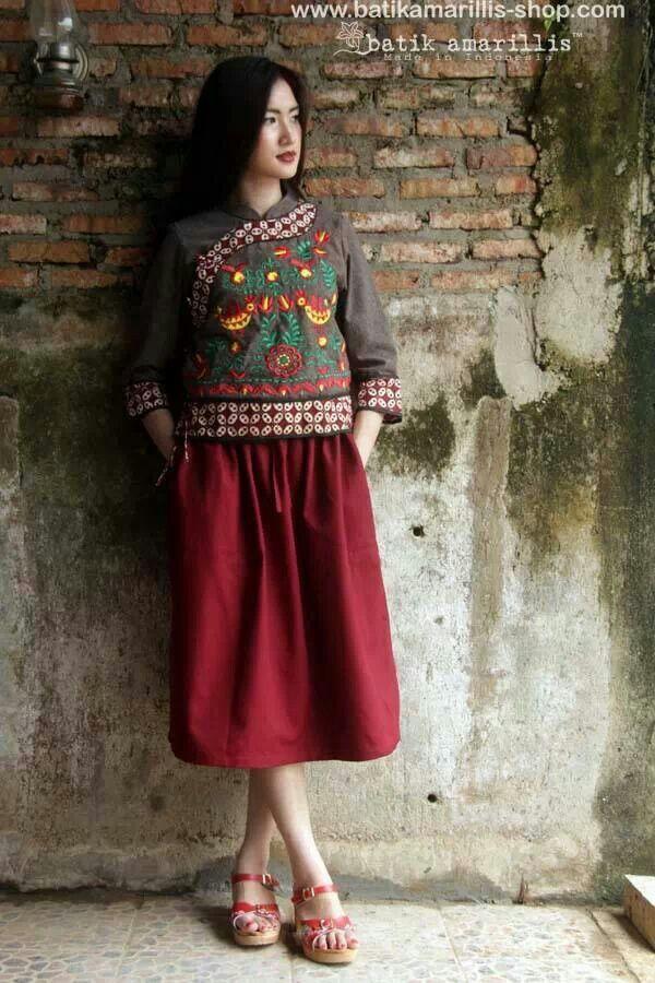Batik amarillis joyluck jacket
