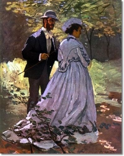 The Picnic = Claude Monet c.1865 Monet, with his future bride Camille, who was a…