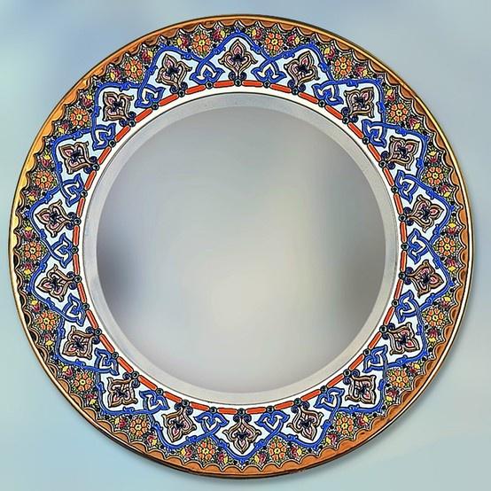 Mirror Plate 60 CMS. Handmade in Sevilla. Isbiliya (Al-Ándalus). Decorative ...  sc 1 st  Pinterest & 18 best Decorative Mirrors Plates images on Pinterest | Decorative ...