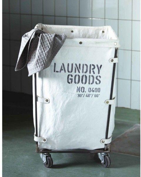 House Doctor Wäschekorb Laundry mit Rollen