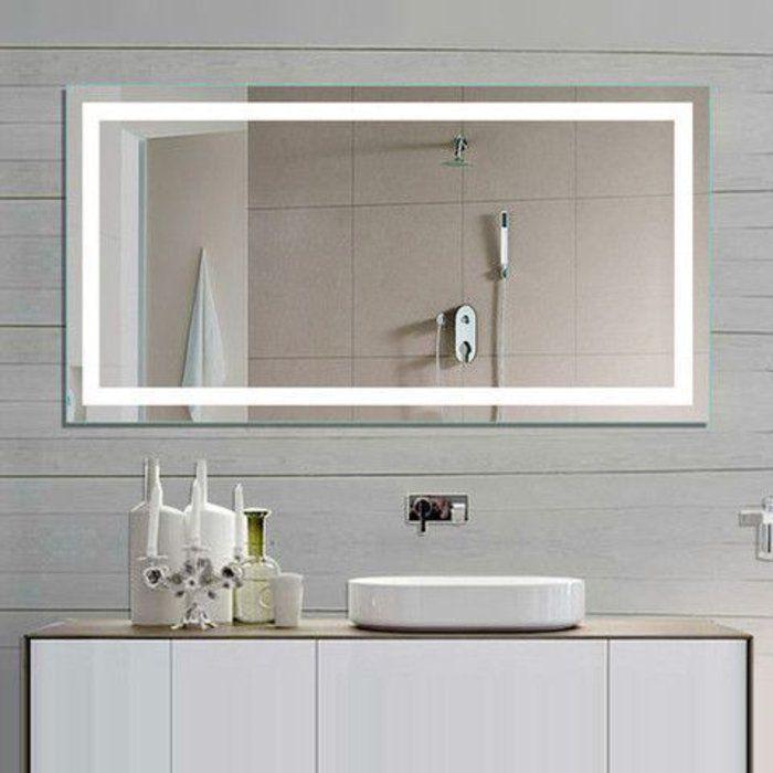 miroir grossissant salle de bain avec bandeau lumineux