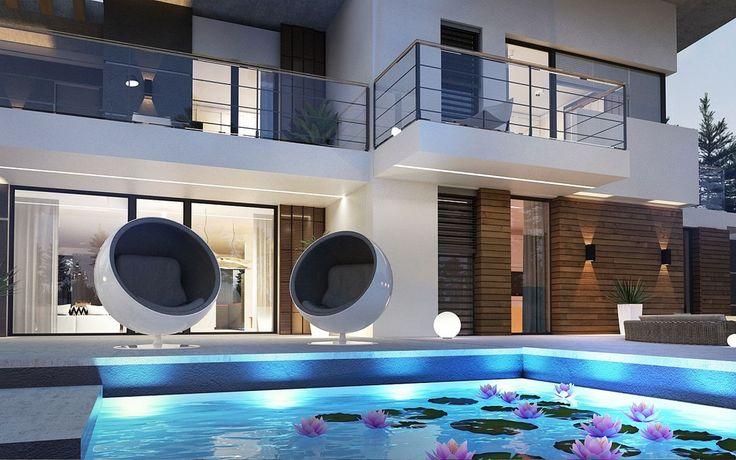 DOM.PL™ - Projekt domu SZ5 Zx22 CE - DOM SZ2-64 - gotowy projekt domu
