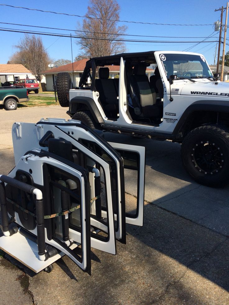 2010 Jeep Wrangler JK Unlimited Sport Lifted 4dr. #JeepLife Door Cart