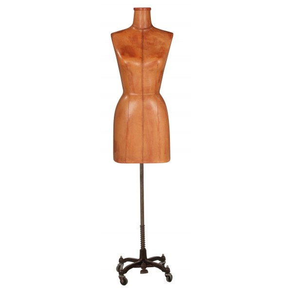 Vintage Leather Display Female Dress Form ....I want this in the WORST way!