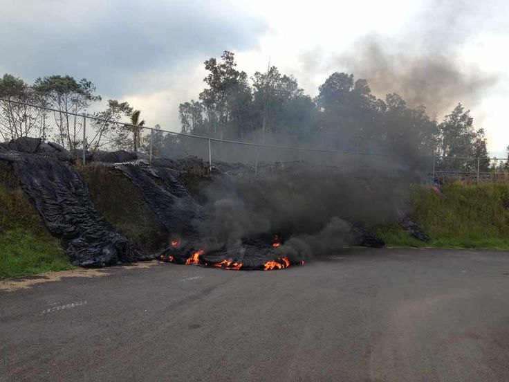 Puna Lava Flow Breakout Has Breached Pahoa Transfer Station Fenc   Hawaii  News Now   KGMB And KHNL