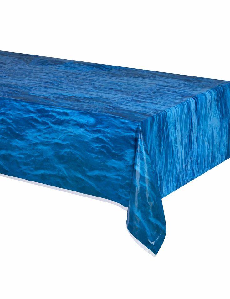 Tovaglia di plastica effetto blu oceano su VegaooParty, negozio di articoli per feste. Scopri il maggior catalogo di addobbi e decorazioni per feste del web,  sempre al miglior prezzo!