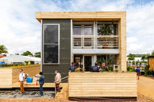 Tiny 100% Solar-Powered Maison Reciprocity House Shines at the Solar Decathlon Europe