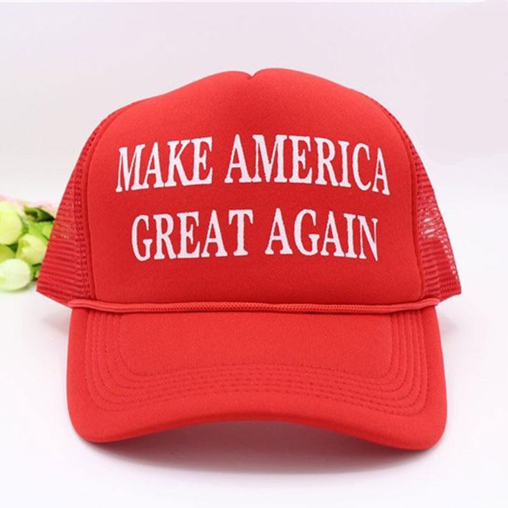 Whether you support Donald trump or are going for an ironic, rebellious anti-government look this 'Make America Great Again' hat inspired by Donald trump in the 2016 election will certainly fit the bi