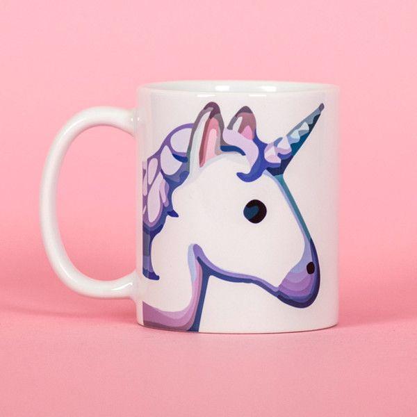 Unicorn Emoji Mug Funny Mug Rude Mug Mug Cup 4p034a ($13) ❤ liked on Polyvore featuring home, kitchen & dining, drinkware, drink & barware, home & living, mugs, silver, unicorn mug, emoji mug and unicorn cups