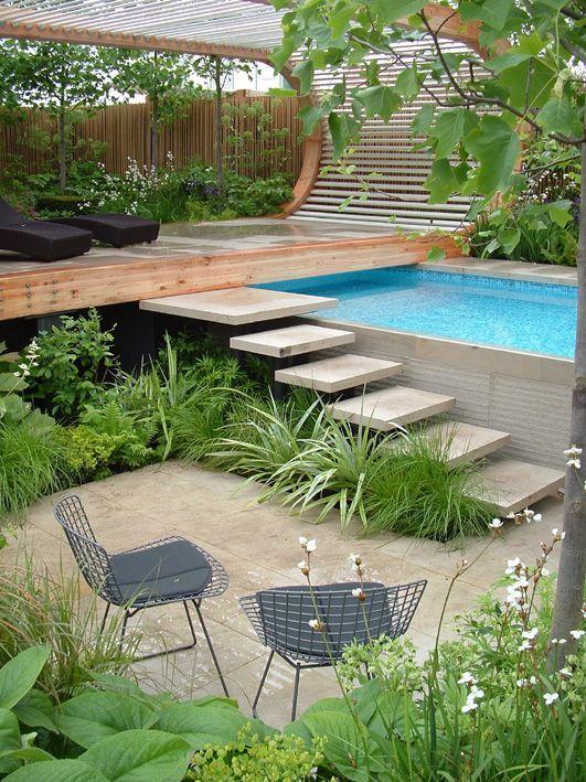 Projeto do jardim de Andy Sturgeon, Chelsea Blumenschau   – Wasserelemente im Garten