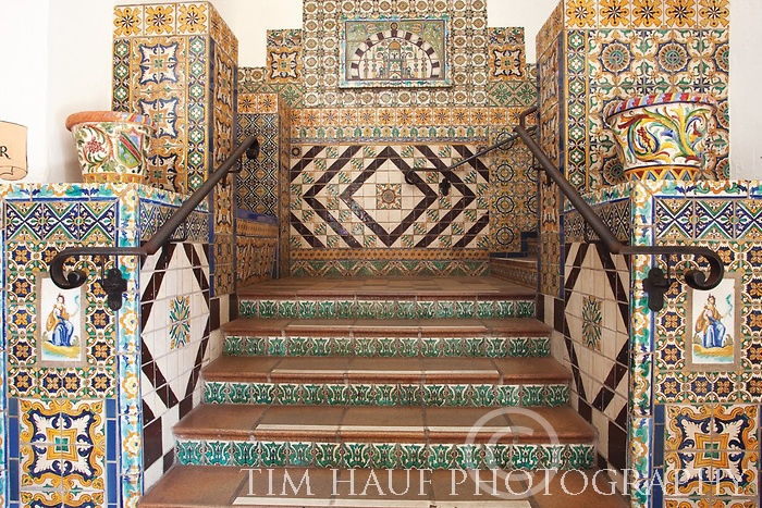 SB Courthouse mosaic stairs