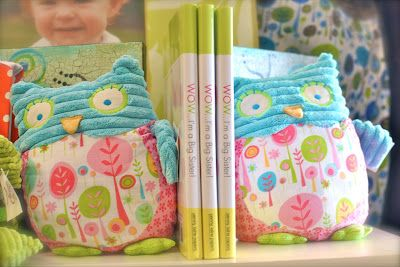 Precious Owl Bookends - perfect for a nursery or older girl's room.