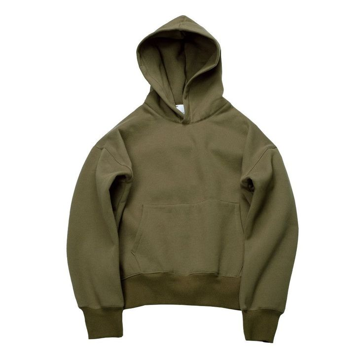 Very good quality nice hip hop hoodies with fleece WARM winter mens kanye west hoodie sweatshirt swag solid Olive pullover