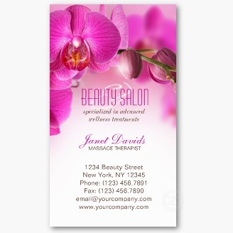 Beauty Salon Nails Day Spa Business Card Spa Business Cards
