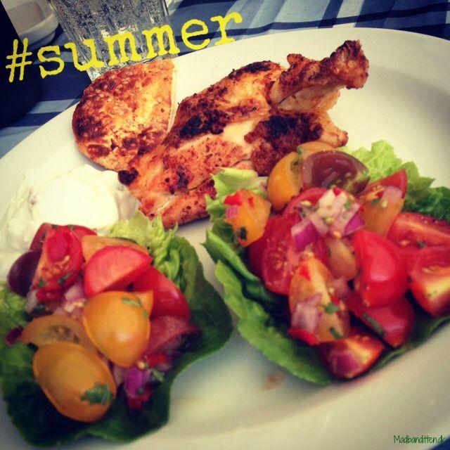 Chicken and tomato salsa - LCHF