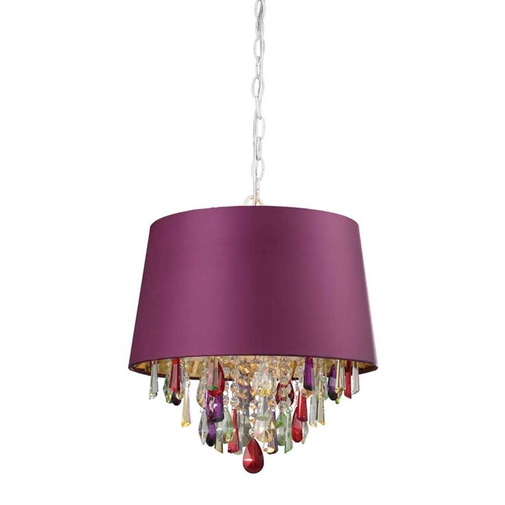 47 best colored glass chandeliers from modern to transitional transitional shaded pendant with multicolor crystal accents aloadofball Image collections