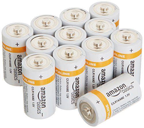 AmazonBasics Lot de 12 piles alcalines de type C