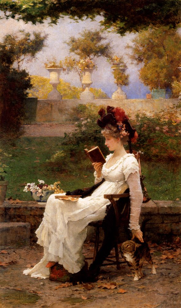 The End Of The Story, Marcus Stone. English (1840-1921)...always time to read or start another book!