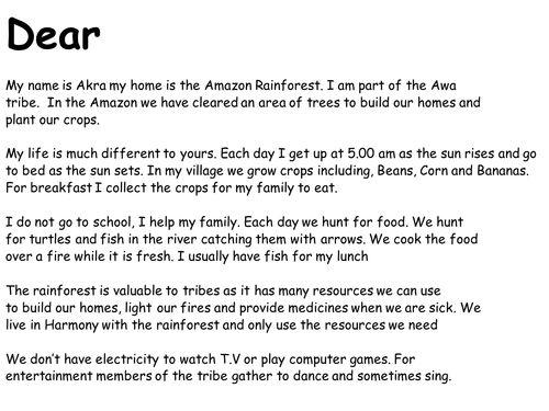 amazon rainforest tribes lesson - Google Search