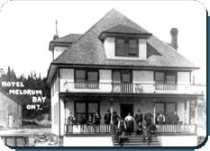 The Inn was build by the Victoria Harbor Company in 1878. In July 1891 Mr. James McDonald from southern Ontario purchased the building and in 1899 leased it to Mr. James Fitzpatrick.