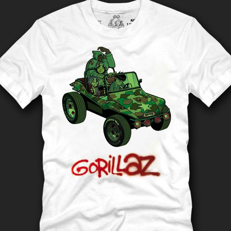 High-quality print t-shirts for men. Crew neck line and short sleeved tees are made of 100% cotton. The Gorillaz Geep graphic T-shirt is good for as daily, clubwear, party wear, wear to work.