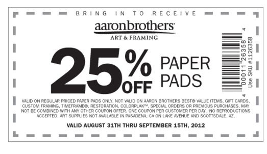 Aaron brothers printable coupons 2018