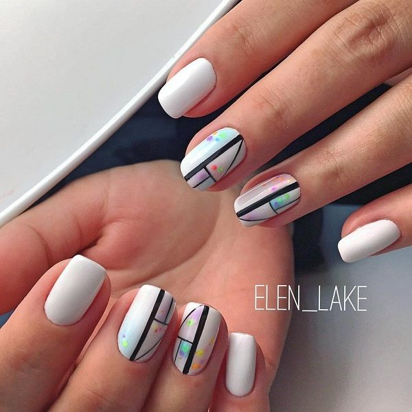 This Patterned White Nail Art Design. Patterned White Nail Art Design is somethi…
