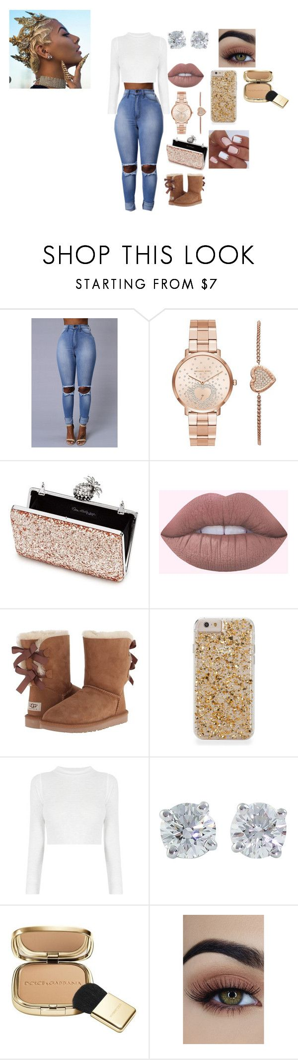 """""""bored AGAIN fw it"""" by ateria ❤ liked on Polyvore featuring Michael Kors, Miss Selfridge, Lime Crime, UGG Australia, Tiffany & Co. and Dolce&Gabbana"""