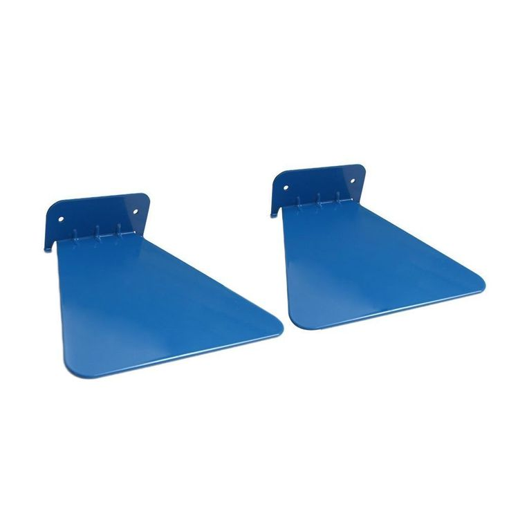 Egoelife 2 PCs Metal Decorative Functionality Wall Mounted Floating Concealed Invisible Bookshelf Bracket Shelf Rack (Blue) ** Startling review available here  : Floating Shelves
