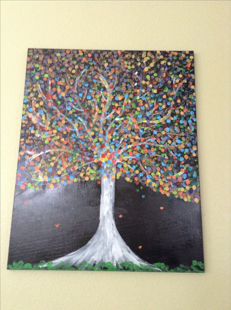 fun things to paint finger painting pinterest trees