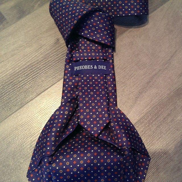 Pheobes & Dee Richmond seven fold tie in Blue. Visit us at at www.pheobesdee.com to see our entire collection #sevenfold #sevenfoldtie #7foldtie #ties #neckties #necktie #italiantie #italy #instafashion #clothing #mensstyle #menswear #mensfashion #gentleman #dapper #styleformen #silktie