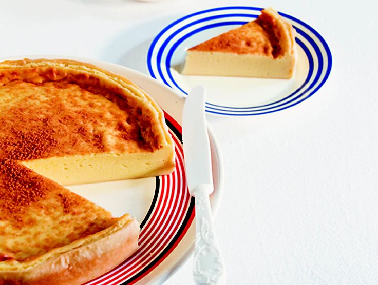 Traditional milk tart - HomeChoice Cookbook Volume I. Find the recipe here: http://hometalk.homechoice.co.za/category/sweet-treats