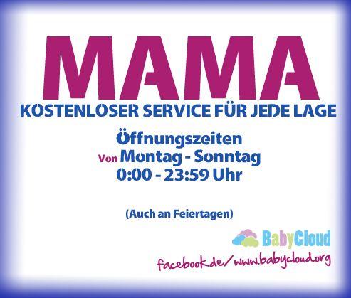 Mamas Öffnungszeiten #sprüche #mama #lustig #eltern # ...