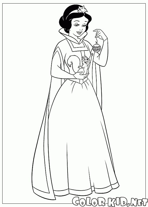 Princess Christmas 09 Coloring Pages Printable And Book To Print For Free Find More Online Kids Adults Of
