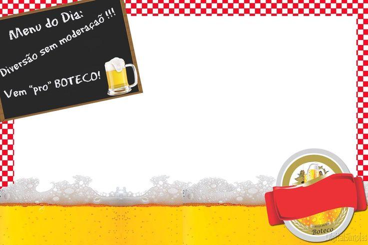 convite+tema+boteco+xadrez+vermelho.jpg (1600×1066)