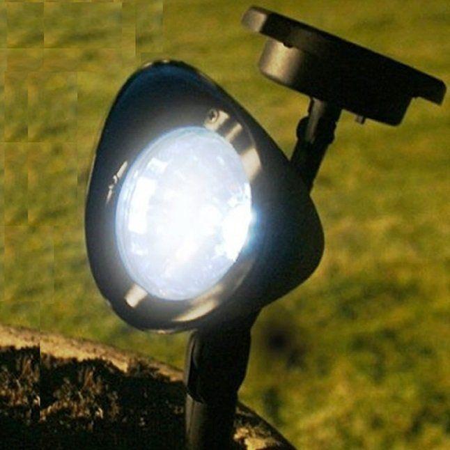 Refletor Luminária Solar Spot Em Cores Externa Para Jardim fig 1