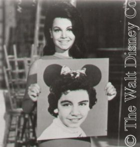 *MICKEY MOUSE CLUB: Annette Funicello, the most famous Mouskeer was discovered by Walt Disney. She was hired for her dancing skills and assigned to the Red Team and Roll Call, where she stayed all three seasons. She was the only Mouseketeer retained on contract after the third season. Received the Disney Legends Award.
