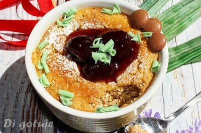 Di gotuje: Zapiekany pudding z serka wiejskiego
