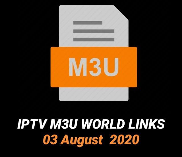 Iptv M3u World Links 03 August 2020 August World Tv Channels