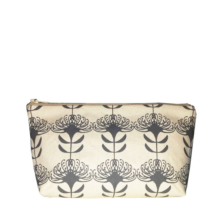 Suzie Qu new Eco range - South African Pincushion repeat in Charcoal Cosmetic bag