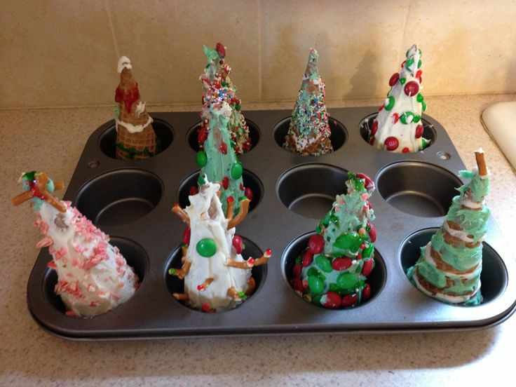 Christmas Tree Craft Ice Cream Cone : Best images about christmas on recycled