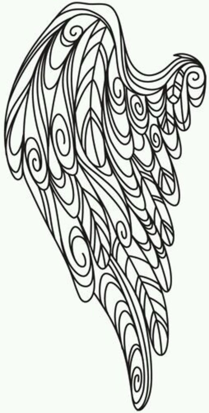 32 best angel wings and things images on pinterest for Angel wings coloring pages