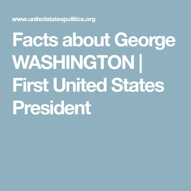 Facts about George WASHINGTON | First United States President